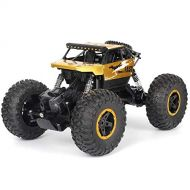 RC Off-Road Vehicle, Sacow P810 Cross-Country RC Climbing Car 1/18 2.4G 4WD 15KM/h Alloy High Speed Off-Road Monster Truck (Gold)