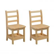 Shelf ECR4Kids Sit n Stash Solid Wood 14 inch Kids Chair with Storage (2-Pack)