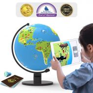Shifu Orboot (App Based): Augmented Reality Interactive Globe for Kids, STEM Toy for Boys & Girls Age 4 to 10 Years | Educational Toy Gift (No Borders, No Names on Globe)