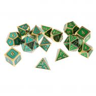 /SunniMix 14Pcs Multisided Alloy Dice Set D4-D20 Board Game for Craps Gambling Lovers