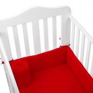 TILLYOU Babydoll Tailored Baby Crib Bumpers, Red