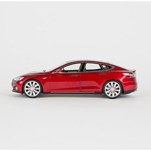 Tesla Motors 1:18 Scale Diecast P85 Model S Red Multi-Coat car