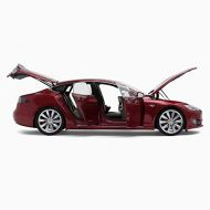 TeslaMotors Tesla Diecast 1:18 Scale Model S P100D Red