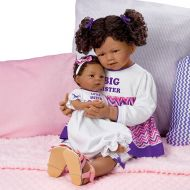 The Ashton-Drake Galleries A Sisters Love Set So Truly Real Lifelike & Realistic African-American Baby Dolls 24-inches and 13-inches by