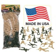 Tim Mee Toy TimMee Plastic Army Men: Black vs Blue 96pc Soldier Figures - Made in USA