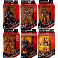 Toywiz DC Justice League Movie Multiverse Steppenwolf Series Batman, Superman, Flash, Cyborg, Aquaman & Wonder Woman Set of 6 Action Figures