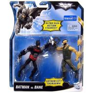 Toywiz The Dark Knight Rises Gotham City Showdown Batman vs. Bane Exclusive Action Figure 2-Pack [Red & Black vs. Green]