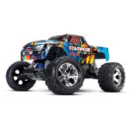 Traxxas Stampede 1/10 Scale 2WD Monster Truck with TQ 2.4GHz Radio, Rock N Roll
