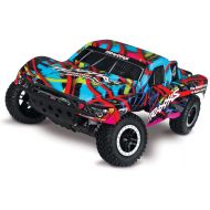Traxxas Slash 110 Scale 2WD Short Course Truck with TQ 2.4GHz Radio and On-Board Audio, Hawaiian