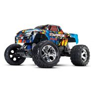 Traxxas Stampede 110 Scale 2WD Monster Truck with TQ 2.4GHz Radio, Rock N Roll