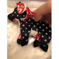 Ty Lefty 2000 Plush Beanie Baby Election Themed Donkey