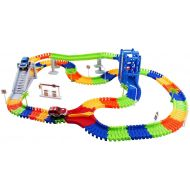 Vokodo - Educational, Twistable, Race Car Track - 240 Pieces & 2 Cars