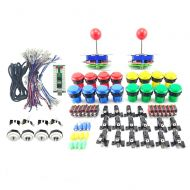Winit WINIT Arcade parts kit With 2PCS Joystick  16PCS Pushbutton and Microswitch  2 player USB board