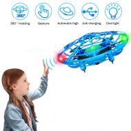 XBUTY Hand Controlled Drone for Kids Mini Quadcopter Flying Ball Helicopter Orb Toy for Age 3 and Up