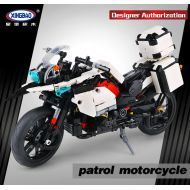XINGBAO New 1075PCS The Patrol Motorcycle Set Building Blocks Bricks Educational toys