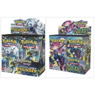 Pokemon TCG Sun & Moon Lost Thunder Booster Box + XY Ancient Origins Booster Box Pokemon Trading Cards Game Bundle, 1 of Each.